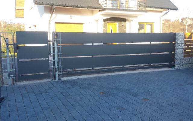 Nowoczesna brama przesuwna Nowy Sącz